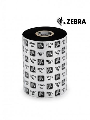 """Zebra 2000 Standard Wax - 4.33"""" x 1476' Black Wax Ribbon"""