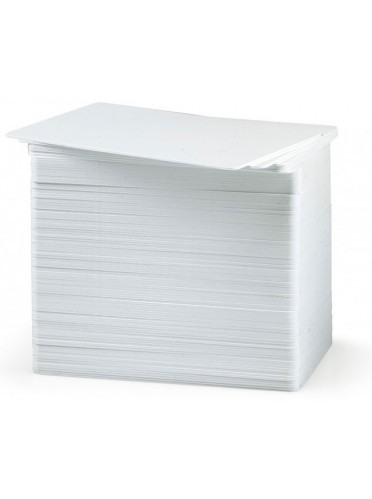Zebracard 104523-111 CR-80 Premier Pac Blank Card, 30 mil, White (Pack of 500)