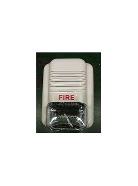 Wired indoor alarm siren with strobe PE-514